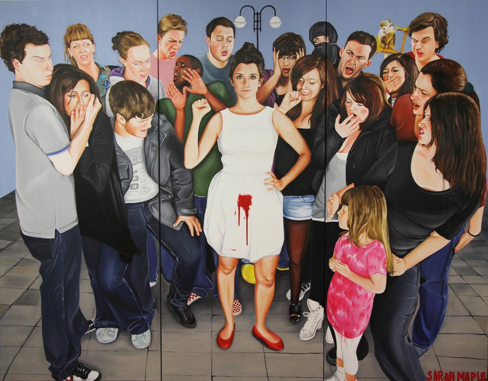 Menstruatewithpride-oiloncanvas-SarahMaple